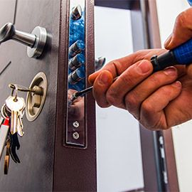 installation of high security lock